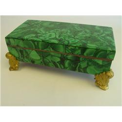 Bronze mounted malachite box