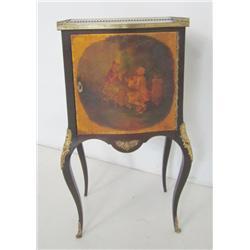 R.J. Horner Vernis Martin style music cabinet