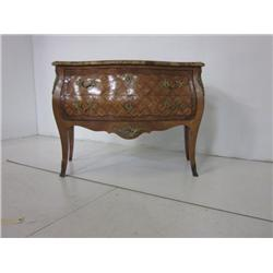 Louis XV marble top bombe commode