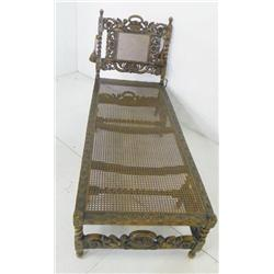 Figural cane chaise lounge