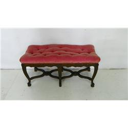 Carved walnut 6 legged bench ca. 1920's
