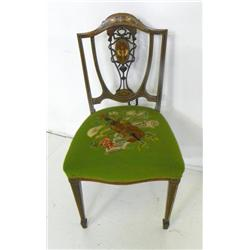 Inlaid slipper chair