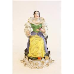 "Russian figure of ""Seated Woman with Flower"""