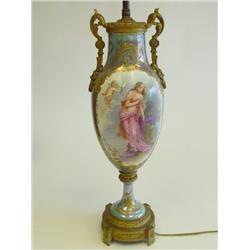 Sevres vase mounted as lamp