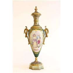 19th c. Sevres French urn signed Rochelle