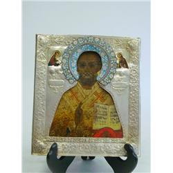 18th c. Russian Icon of St. Nicholas