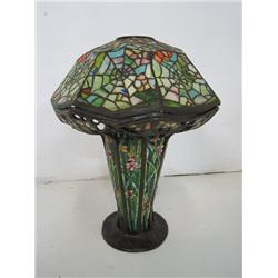 Spider design Tiffany style lamp