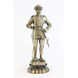 "19th c. Ivory & German silver ""Soldier"""
