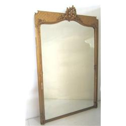 19th c. gilt wood carved pier mirror