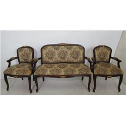 French style love seat & 2 chairs