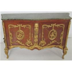 Marble top bronze mounted French style server