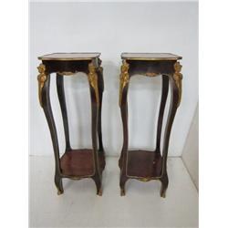 Pair French style figural pedestals