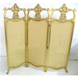 3 panel gilt carved screen
