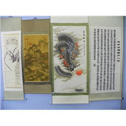 Set of 4 Chinese scrolls