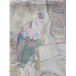 2 paintings on silk in envelopes