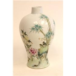 20th c. Chinese porcelain Rose Famille vase