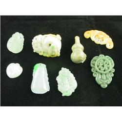 8 pieces carved jadeite