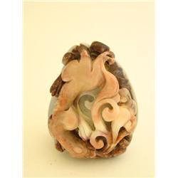 "Carved jadeite depicting ""Dragon"""