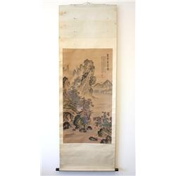 """Chinese scroll painting of """"Landscape"""""""