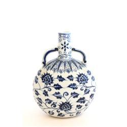 Ming style blue & white vase