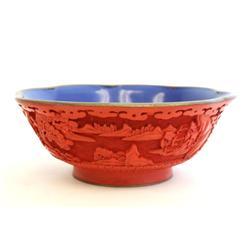 Cinnabar bowl
