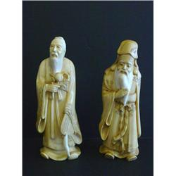 2 Chinese ivory figures