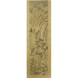 NI-Chinese Qing Dynasty style scroll  signed