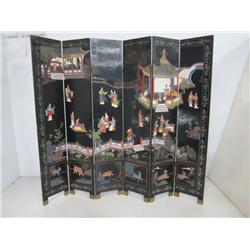 Chinese Coramandel lacquered floor screen