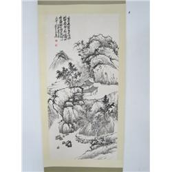 "Chinese scroll signed Wu Chang Shou"" ""Landscape"""