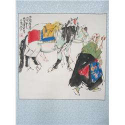 """Chinese scroll artist signed """"Guo Liang"""""""
