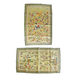 2 handmade silks