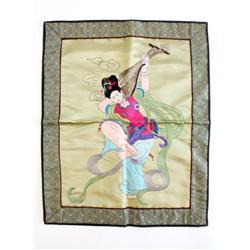 "Handmade silk of ""Women Dancing"""