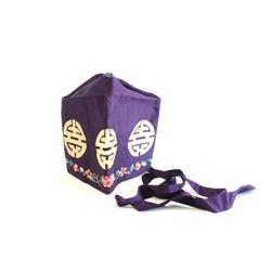 Purple silk Chinese hat