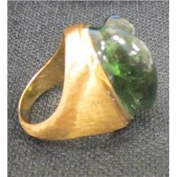 18kt gold ring signed Burle Marx