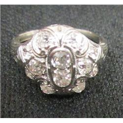 Diamond & 18kt white gold ring