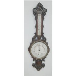 Oak barometer