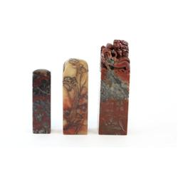 3 soapstone stamps