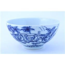 Blue & white porcelain bowl with Chenghua mark