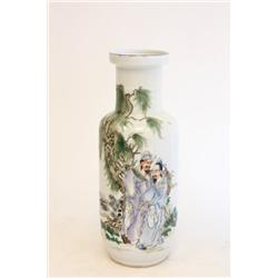 """Republic Era Famille Rose vase of """"Figures"""""""