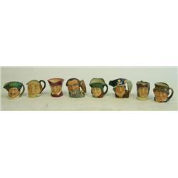 Lot of 8 Royal Doulton Toby Mugs