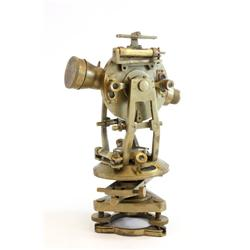 Brass sextant with box