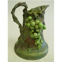 19th c. Teplitz porcelain pitcher
