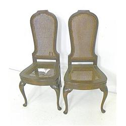 Set of 4 Italian cane seat side chairs