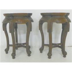 Pair of taboret tables