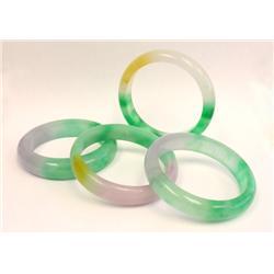 4 jade bracelets