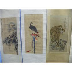 3 Chinese scrolls