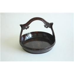 19th c. Wooden carrying basket