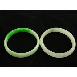 2 jade bangle bracelets