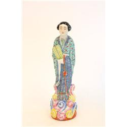 "19th c. Chinese porcelain figure of ""Woman"""