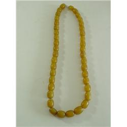 19th c. amber beaded necklace